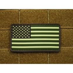 JTG - US Flag Patch, forest / 3D Rubber patch