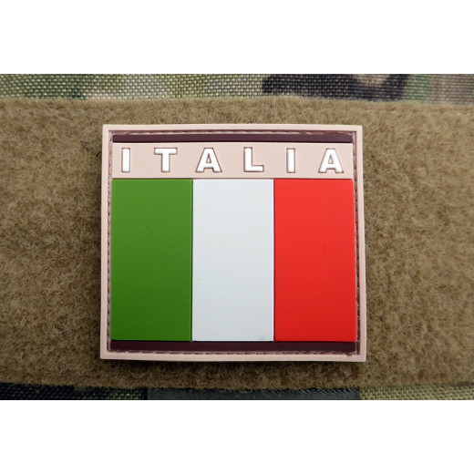 JTG - Italien Flagge - Patch, desert / 3D Rubber patch