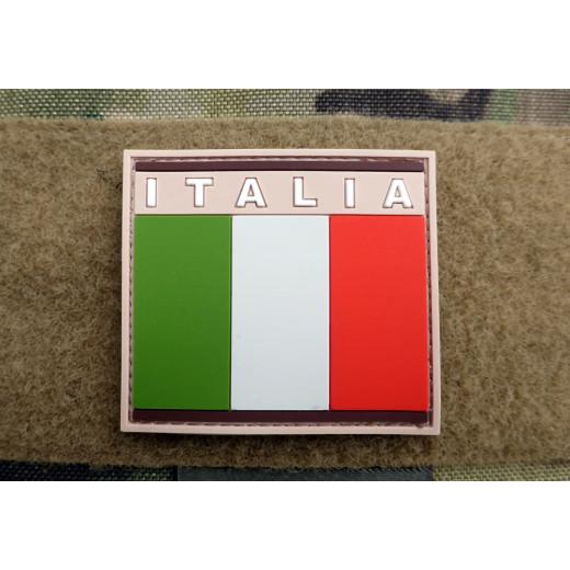 JTG - Italian Flag Patch, desert / 3D Rubber patch