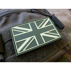 JTG - UK Flagge - Patch, forest / 3D Rubber patch