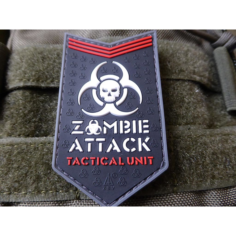 Zombie Attack Rubber Patch SWAT JTG