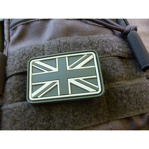 JTG - UK / Great Britain Flag Patch, forest / 3D Rubber patch