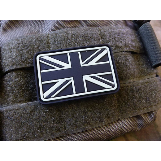 JTG - UK / Great Britain Flag Patch, gid (glow in the dark) / 3D Rubber patch