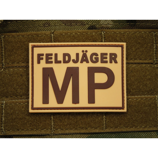JTG - Feldjäger MP Patch, desert / 3D Rubber patch