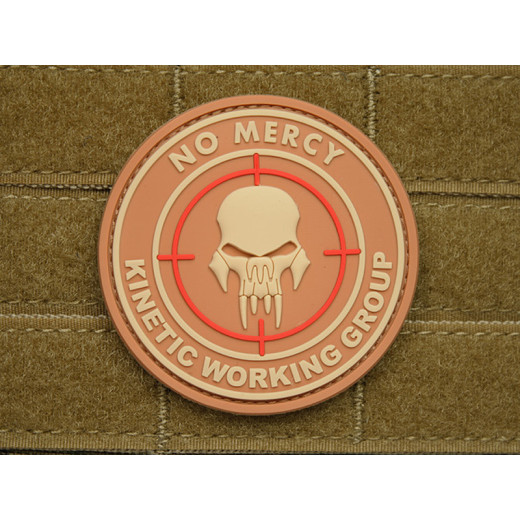 JTG - NO MERCY - KINETIC WORKING GROUP - Insider Patch, desert / 3D Rubber patch