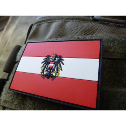 JTG  Austria Flag Patch, fullcolor / 3D Rubber patch