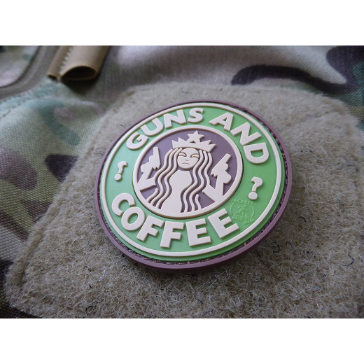 JTG - Guns and Coffee Patch, multicam / 3D Rubber patch