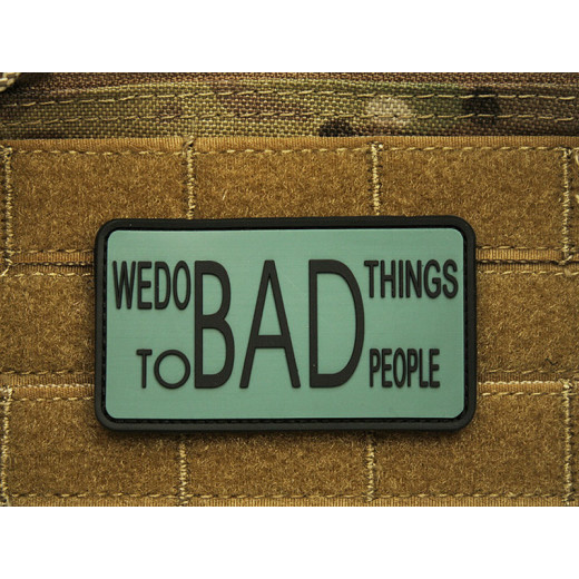 JTG - WE DO BAD THINGS ... - Insider Patch, foliage / 3D Rubber patch