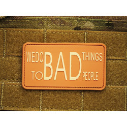 JTG - WE DO BAD THINGS ... - Insider Patch, desert / 3D...