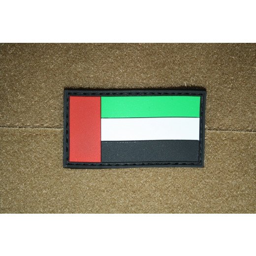 JTG - Vereinigte Arabische Emirate Flagge - Patch, fullcolor / 3D Rubber patch
