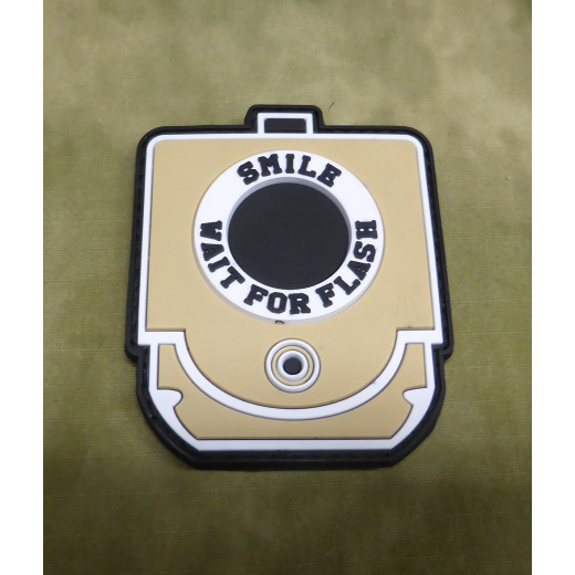 JTG - Smile and Wait for Flash Patch, desert / 3D Rubber patch