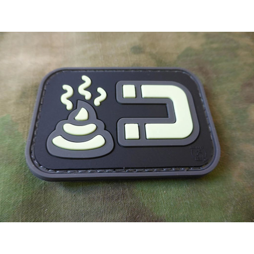 JTG - ShitMagnet Patch, gid (glow in the dark) / 3D Rubber patch
