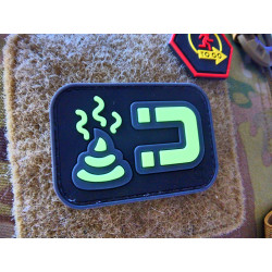 JTG ShitMagnet Patch, gid (glow in the dark) / 3D Rubber...