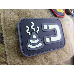 JTG ShitMagnet Patch, gid (glow in the dark) / 3D Rubber patch