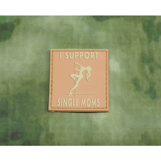 JTG - I Support Single Moms Patch, desert / 3D Rubber patch