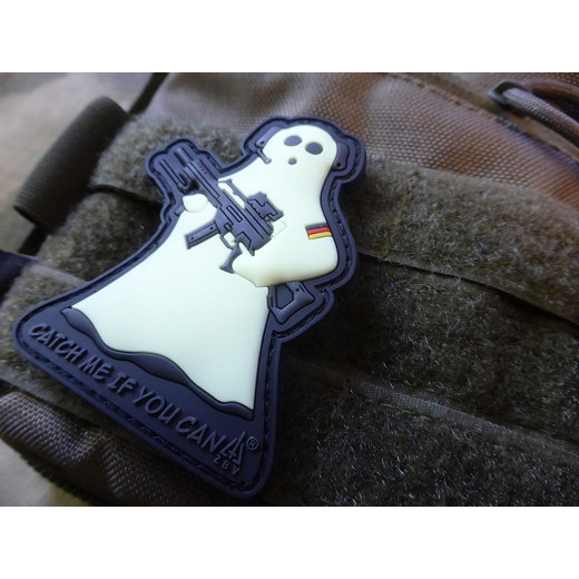 JTG CMIYC Ghost Sniper Patch, gid (glow in the dark) / 3D Rubber patch