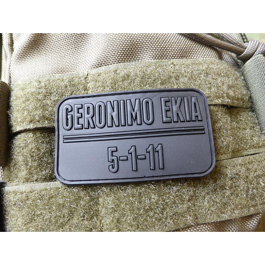 JTG - Geronimo Ekia Patch, black / 3D Rubber patch