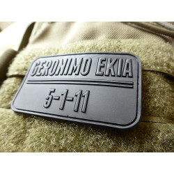 JTG Geronimo Ekia Patch, black / 3D Rubber patch