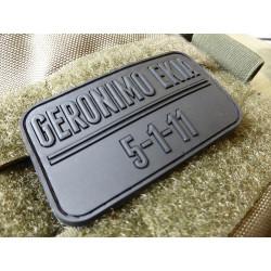 JTG - Geronimo Ekia Patch, black / 3D Rubber patch