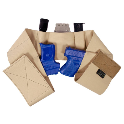Elite Survival Systems - Core Defender Belly Band Gun Holster, Tan - Size M