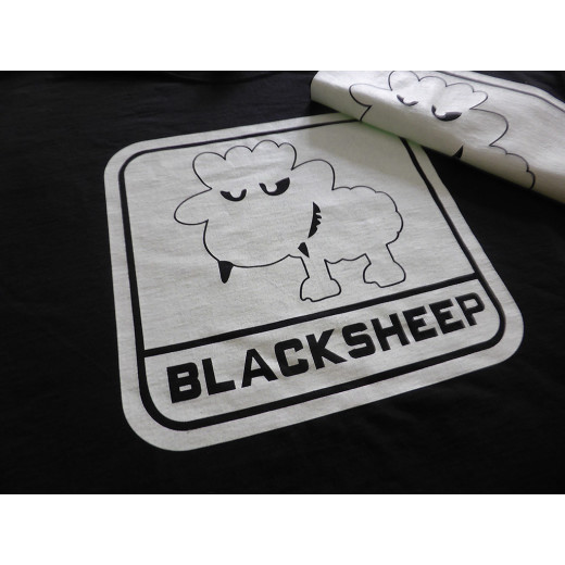 JTG - Little BlackSheep T-Shirt, ghost - Logo gid (glow in the dark) - Limited Special Edition