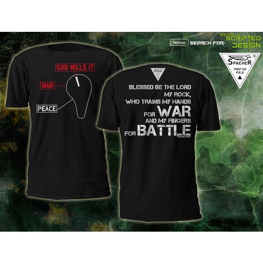 """SPAEHER® - Fire Selector - """"GOD WILLS IT"""" T-Shirt, schwarz L"""