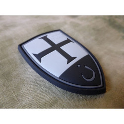 JTG  Crusader Shield Patch, blackops / JTG 3D Rubber Patch