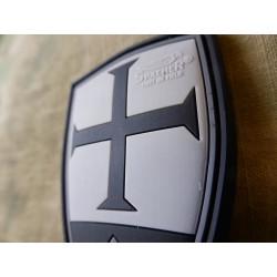 JTG  Crusader Shield Patch, blackops / JTG 3D Rubber Patch