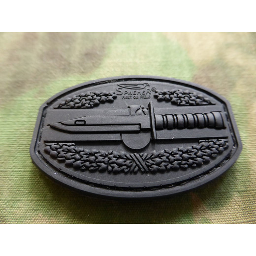 JTG  CombatAction Patch, black / JTG 3D Rubber Patch