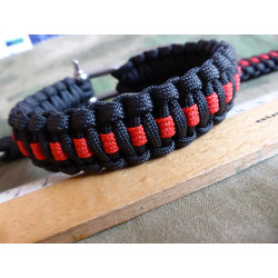 JTG Paracord Armband - Thin Red Line - M / 20cm