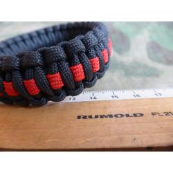 JTG Paracord Armband - Thin Red Line - M / 20cm