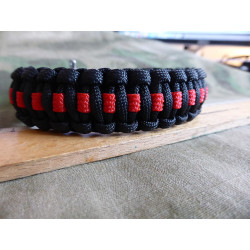 JTG Paracord Bracelet - Thin Red Line - L / 22,5cm