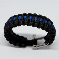 JTG Paracord Armband - Thin Blue Line - mit...