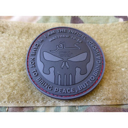 JTG THE INFIDEL PUNISHER Patch, blackops / JTG 3D Rubber...