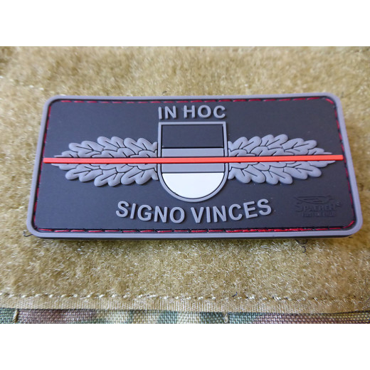 JTG  SEK-Patch - in hoc signo vinces -  Thin Red Line, special edition / JTG 3D Rubber Patch