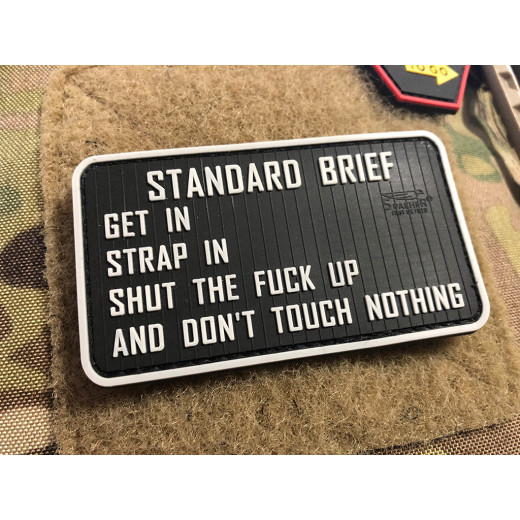 JTG  Standard Briefing Patch, fullcolor / JTG 3D Rubber Patch