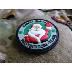 JTG  Santa Claus Protection Team Patch, christmas-tree-green  / JTG 3D Rubber Patch