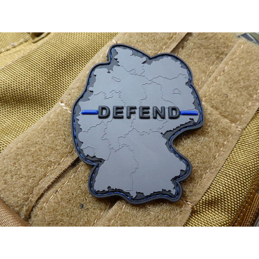 JTG  DEFEND GERMANY Patch, Thin Blue Line, special edition / JTG 3D Rubber Patch