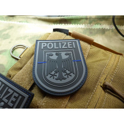 JTG Ärmelabzeichen  Bundespolizei, blackops, Thin Blue...
