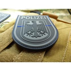 JTG  Functional Badge Patch, Bundespolizei, blackops Thin Blue Line, special edition / JTG 3D Rubber Patch