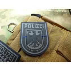 JTG Ärmelabzeichen  Bundespolizei, blackops, Thin Blue Line, special edition / JTG 3D Rubber Patch