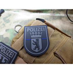 JTG Ärmelabzeichen  Polizei Berlin, blackops, Thin...
