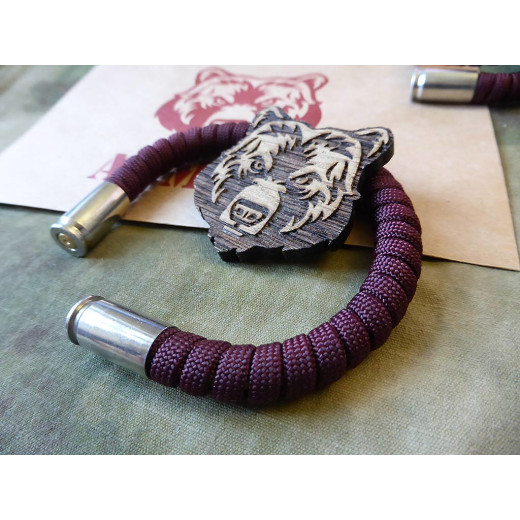 ARMLET Paracord Bracelet, bordeaux red, Large 8 inch