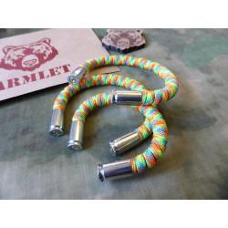 ARMLET Paracord Bracelet, rainbow color, Medium 7 inch