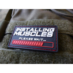 JTG  INSTALLING MUSCLES Patch, fullcolor / JTG 3D Rubber Patch