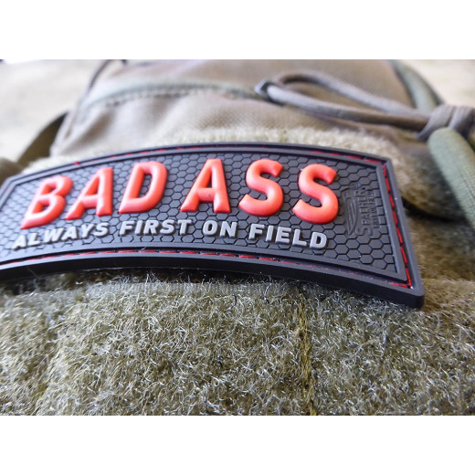 JTG  BAD ASS, Always first on field Patch, red blackops / JTG 3D Rubber Patch