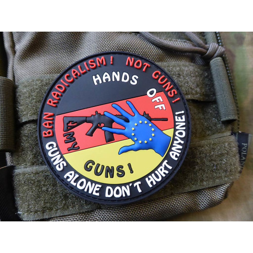 JTG HANDS OFF MY GUN Deutschland Patch, fullcolor / JTG 3D Rubber Patch