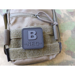 JTG  Blutgruppenpatch B NEG, blackops, 50x50mm / JTG 3D...