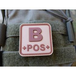 JTG  Blutgruppenpatch B POS, desert, 50x50mm / JTG 3D...