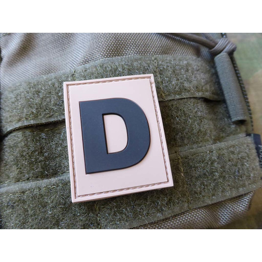 JTG  Identification Patch D Buchstabe, desert / JTG 3D Rubber Patch / Abverkauf